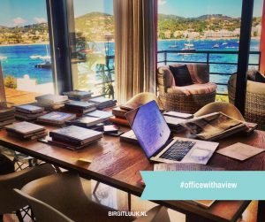 #officewithaview - Werkplek Cindy Koeman op Ibiza