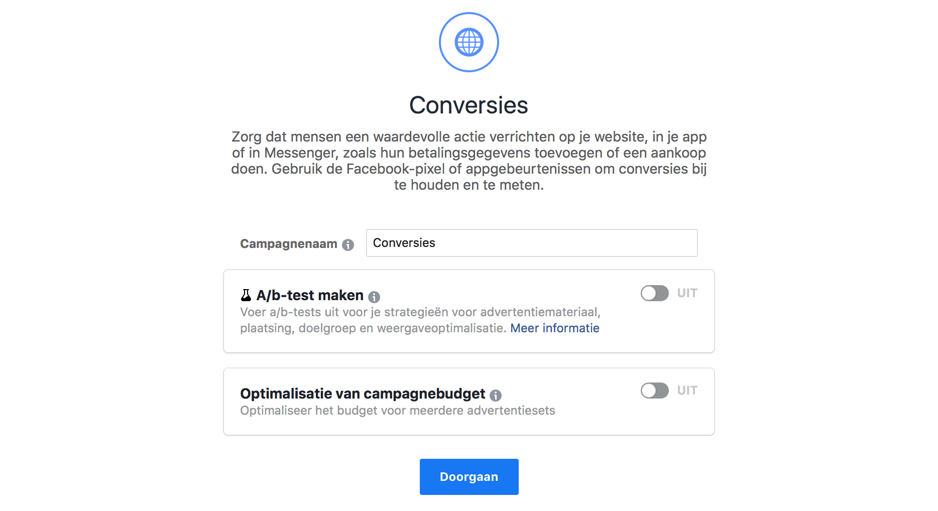 Facebook Campagne Budget Optimalisatie